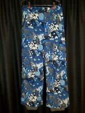Burton Boys XL Dry Ride Dryride eye balls Snowboard Pants blue/white/gray/black