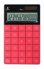 Cathedral Calculator Pink Solar Dual Power Battery School Maths Digit Office