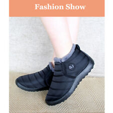 UK Womens Fur Winter Snow Ankle Boots Waterproof Ladies Slip On Shoes Size 4-9