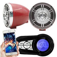 12V Motorcycle Waterproof Bluetooth Amplifier Speaker TF USB MP3 FM Radio