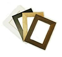 Glass Photo Picture Frames Poster Frame Black Walnut White Oak Wood  All Sizes