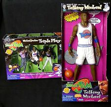 "Michael Jordan Space Jam Movie 15"" Talking Figure with Triple Play Box Set 1996"