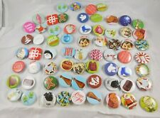 2012 Jcp Jc Penney Christmas Holiday Mini Buttons Pins Lot 66pcs