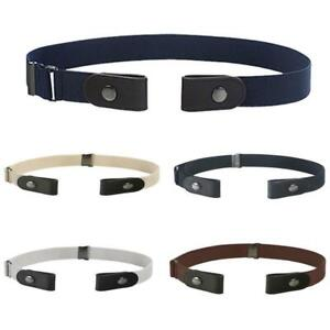 Unisex Waistband Buckle Simple Free Elastic Belt Waist Strap Invisible NEW