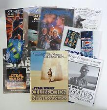STAR WARS CELEBRATION 1 EXHIBITORS PACK, SALES SHEETS, PEPSI COUPON AND BAG