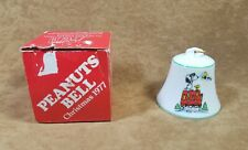 Vintage Snoopy Peanuts Porcelain Christmas Bell 1977