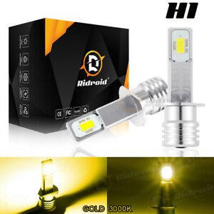 H1 100W 3000K Golden Yellow LED Headlight Kit High Low Beam Bulbs Kits Fog Light