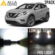 Alla Lighting Bright 6000K Xenon White H11 LED Fog Light Bulbs for Nissan Murano