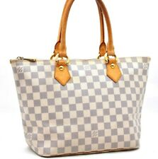 Authentic Louis Vuitton Damier Azur Saleya PM Shoulder Tote Bag N51186 LV A2287