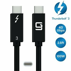 Thunderbolt 3 Cable [Intel Certified]  Superspeed (40Gbps) 2.6ft , 100W, Dual 4K