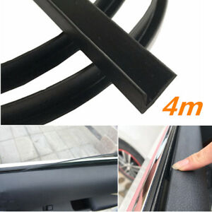 4m V Shape Rubber Strip Car Door Panel Window Glass Seal Filler Noise Insulation