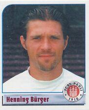 N°181 HENNING BURGER # DEUTSCHLAND FC.ST PAULI STICKER PANINI BUNDESLIGA 2002