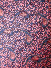 Vintage Lord & Lord Tie Paisley Pink & Blue Mens Polyester Necktie