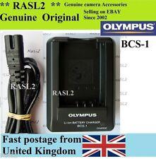 Genuino Olympus cargador BCS-1 Ps-bls1 E410 E420 E400 E450 E600 E620 E-p1 Réflex