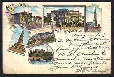 Germany 1906 Gruss Aus Hamburg Colored Post Card