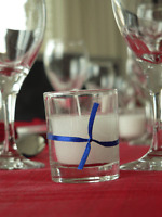 12 Wedding Birthday Event Function Votive Party 6cm Candle Clear Glass White Wax