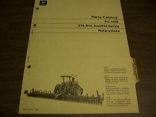 12085 John Deere Parts Catalog Pc-1136 Hoe Rotary 414 614 814 series jan 71