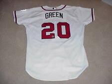 Nick Green Game Worn Signed Jersey Atlanta Braves MLB