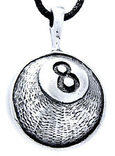 Black Eight Billiards Billiard Ball Eight Ball Pendants Pewter Path