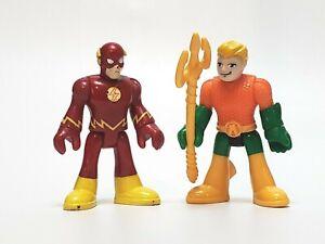 Fisher Price Imaginext DC Super Friends  AQUAMAN & FLASH Figures