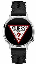 Guess Originals Quartz Black Dial Black Leather Watch V1001M2 90's Style