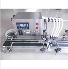 New Four heads full automatic liquid filling machine 10-500ml STAINLESS ss