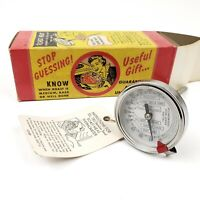 "Vintage Tel-Tru Roast Meat Thermometer Stainless Steel  5"" Stem NEW OLD STOCK"
