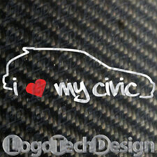 I love my Civic honda ek3 ek4 ej9 ek9 VTEC Type R Sir Ltd sticker tshirt JDM OEM