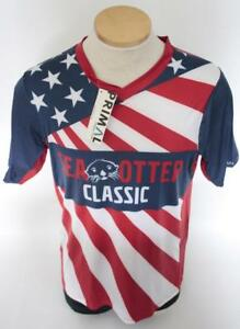 New Primal Men's Small Red Blue White Bike MTB Cycling Jersey Sea Otter Classic