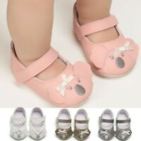Toddler Kid Baby Girls Princess Cute First Walk Bowknot Spring Summer Cirb Shoes