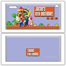 Super Mario Bros Theme Chocolate Wrappers Printable Digital - Print At Home