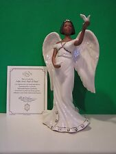 "LENOX "" NAFIA "" SWEET ANGEL of PEACE sculpture NEW in BOX w/COA African American"
