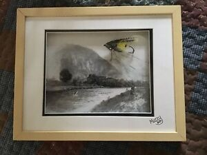 Framed Atlantic Salmon Fly and Print.