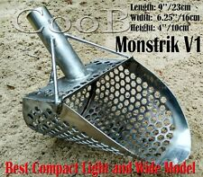 *Monstrik V1* Beach Sand Scoop Stainless Steel Metal Hunting Detector Tool Coob