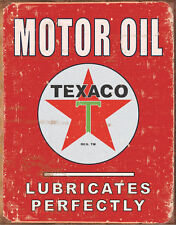 New Texaco Motor Oil Metal Vintage Style Tin Sign Garage Man Cave Petrol USA