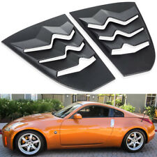 Matte Black ABS Quarter Side Window Louver Scoop Cover For 2003-2008 Nissan 350Z