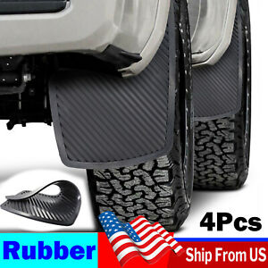 4Pcs Rubber Mud Flaps Splash Guards Mudguards Front & Rear Racing Rally Trunks