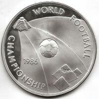 Egipto 5 Pound 1986 Campeonato mundial de Futbol @ PROOF @