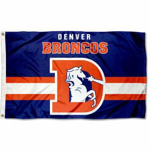 3x5 Foot Denver Broncos Throwback Retro Vintage Logo Flag
