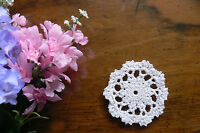 1 Hand CROCHET DOILY - Cotton WHITE Round Approx 7.5cm across - EACH