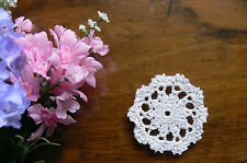 1 Hand CROCHET DOILIES - Cotton WHITE Round Approx 7.5cm across - EACH