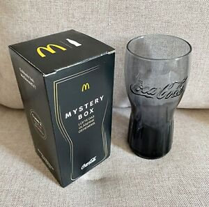 🥃 McDonald's Mystery Coca Cola Glas 2020 Mc Donalds Limitiert Schwarz 🥃