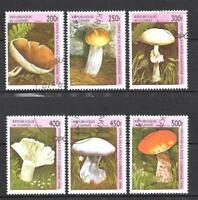 Setas Guinea (34) serie completo de 6 sellos matasellados
