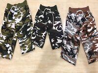 Boys Camo Shorts Chino Kids Childrens Shorts Half Pant Size Age 5-13 Years New