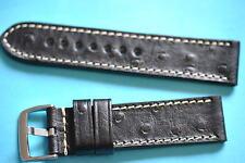 strong bracelet de montre avec Strauss estampage noir 22mm avec clair couture