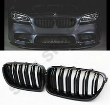 Super Gloss Black Kidney Grill Grille Twin Slat For BMW F10 F11 5 Series Saloon