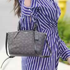 NWT F27580 Authentic Coach Mini Kelsey Satchel Signature Crossbody Shoulder Bag