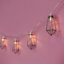 1.8m Indoor Battery Power Grey Cage Fairy Lights LED | Christmas Geometric