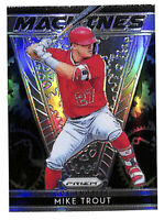 2019 Panini Prizm M1 Mike Trout Machines silver refractor insert card Angels