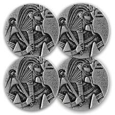 4 x 2016 5oz Egyptian King Tut Silver Coins .999 Silver BU #A475